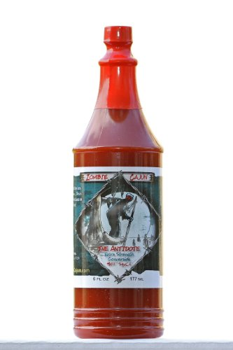 Yankees Buffalo (Zombie Cajun The Antidote Hot Sauce, Bottle of Louisiana Spice Cayenne and Habanero Pepper Recipe, 6oz)