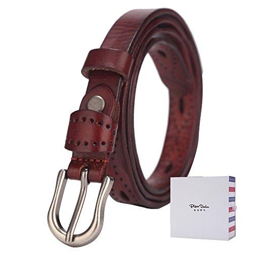grey dress red belt - 6