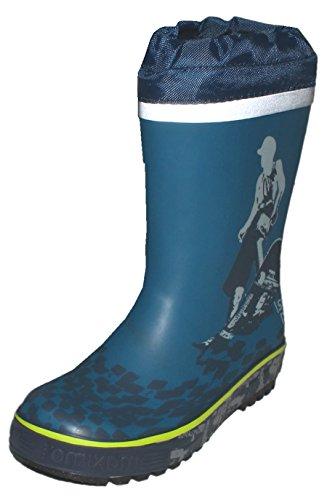 Cooler Gummistiefel aus Naturkautschuk in Jeansblau SKATER Motiv von MAXIMO 73203-806000 Size 26