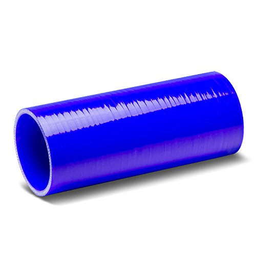 3 inches Straight 8 inches Long Turbo/Intercooler/Intake Piping Coupler Silicone Hose (Blue)