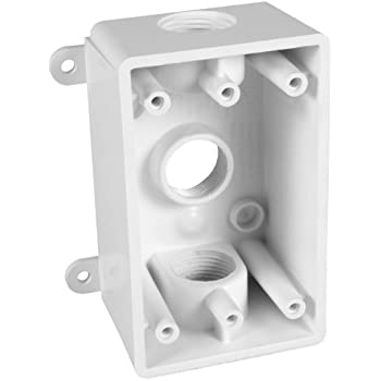 Arlington Dbvs1c 1 Low Profile In Box Recessed Outlet Box