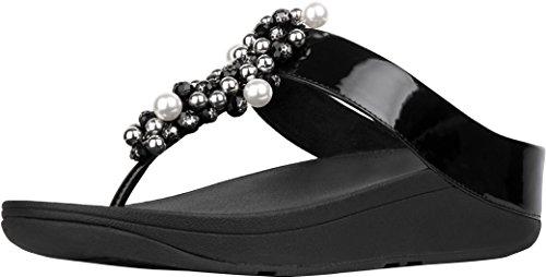 - FitFlop Women's Deco Toe Thong Sandals Black 11 M US