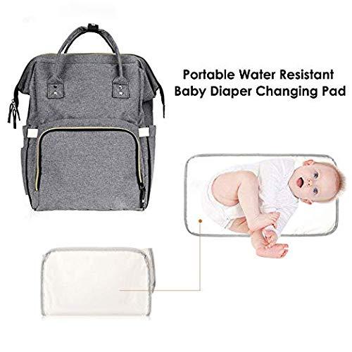 Mochila para Pañales para Bebé Multi-Funciona, Gran Capacidad Resistente al Agua para Bebé Bolso para Pañales de Viaje, Cambio de pañales Mochila ...