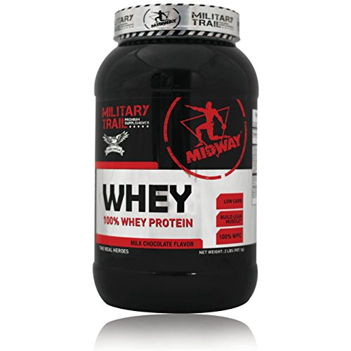 Premium Whey Protein Powder by Midway Labs: Pure Whey Isolate Protein Shake, BCAA, Low Carb, USA Sourced, Smooth Texture, Milk Chocolate Flavor - for Weightlifting + Strength (30 Servings, 2 lbs)