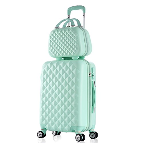 2 Piece Luggage Set Spinner Trolley Suitcase Hard Shell Carry On Bag (20 Inch,