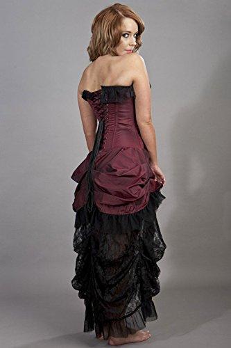 Spitzen Taft Und Kleid Bordeaux Elizabeth Schwarz Burleska Schwarz