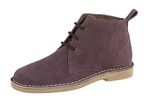 7 Boots Ladies Desert Suede Plum Classic Leather qYgT601