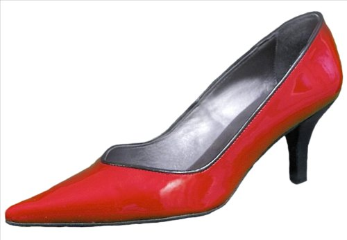 "Gucinari Spanish Red Patent Leather 3"" Heel Shoes with pointed toe - Ladies/Womens"