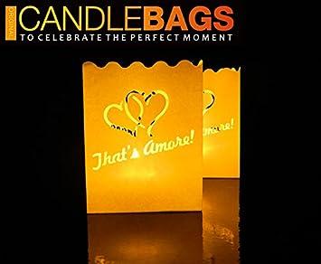 """Vela Bolsas """"Thats Amore"""" (caja 30 unidades) Bolsas de papel ignífugo Candlestick"""