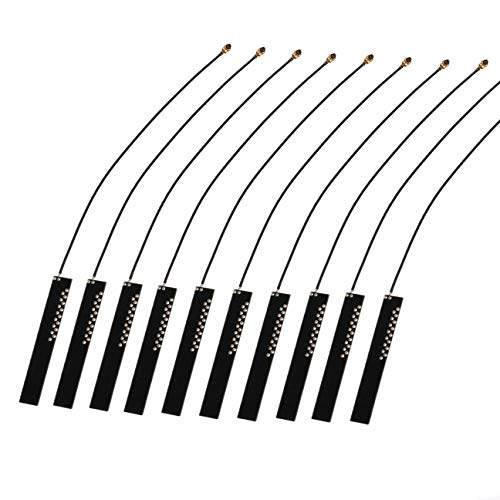 Oiyagai 10Pcs 2.4G 4db IPEX WiFi Module Antenna High Gain Omni Directional Built-in Antenna 16cm/6.3