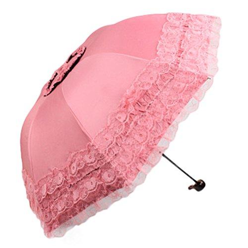Tsptool Automatic Foldable Rain and Anti-UV Folding Parasol Lace Sun Umbrella Gentle - In Mason Stores Ohio