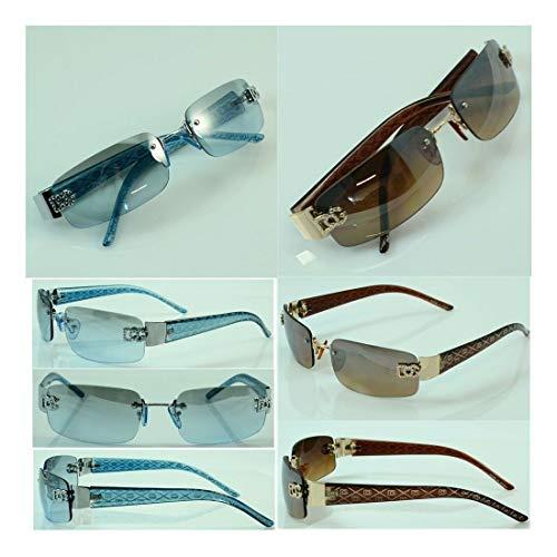Wholesale lot Women Men DG Eyewear Rimless Small Tint Shades Designer Sunglasses