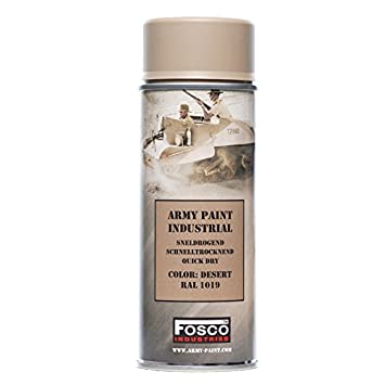 Bombe De Peinture Militaire Spray Fosco 400 Ml Olive Drab Marron