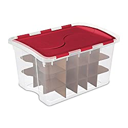Sterilite 48 Quart Holiday Christmas 45 Ornament Storage Box | 19096606