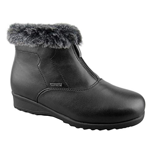 - Comfy Moda Women's Winter Snow Boots London (8, Black)