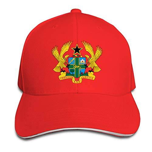 Hhill Swater Coat of Arms of Ghana Unisex Trucker Cap Cool Baseball Hats Dad Hat, Adjustable Outdoor Sport Hats Cap Fitted Hats