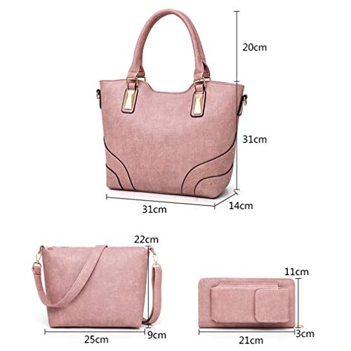 Piece W31H31D14 Composite 3 Black Bag Bag Pink Shoulder cm BW1RwRc6