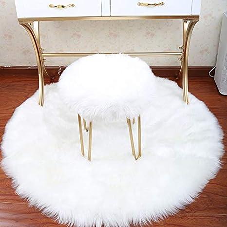 Decorativo de lujo de piel sintética de piel de oveja asiento de la silla almohadilla lisa lana peluda alfombra del piso natural área de la alfombra de pila extra larga Non-Slip Mat Accesorios para coche LUYIASI