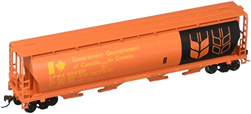 Bachmann Trains Government of Canada - Red 4 Bay Cylindrical Grain Hopper