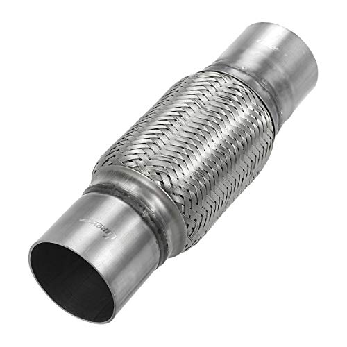 Upower 2.5 Inch Diameter Exhaust Flex Extension Pipe Connector Tube, 4
