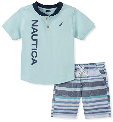 Nautica Baby Boys 2 Pieces Shorts Set, Multi, 24M (Nautica Newborn Boy Clothes)