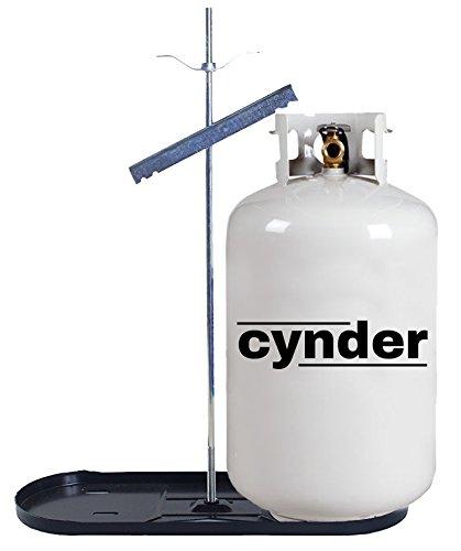 Cynder 00660 Double Bottle Rack 30 lb. LP Dual Propane Tank Cylinder Kit Black Tray (30 lb, Black)