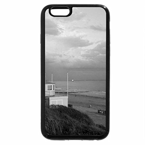 iPhone 6S Case, iPhone 6 Case (Black & White) - Beach in Zoutelande, the Netherlands
