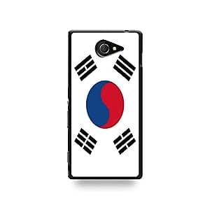 LD coqsom2_46 funda con tapa para Sony Xperia M2-South de bandera de Corea
