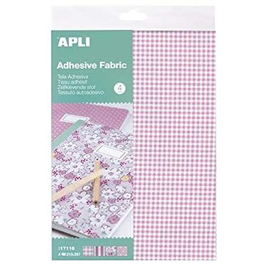 APLI-Kids-17116-Tela-adhesiva-tonos-rosa-4-hojas-Unica