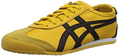 OnitsUKa Tiger Mexico 66,Adults' Low-Top Trainers, Yellow (Yellow/Black 490), 7 UK,Dl408-0490, For Unisex
