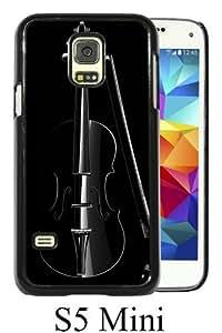 Samsung Galaxy S5 Mini Case ,Fashion And Unique Designed Samsung Galaxy S5 Mini Case With Elegant Cello Macro In Dark Black Hight Quality Cover