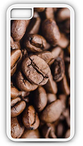 iPhone 7 Case Coffee Beans Drink Brown Roasted Hand Picked Colombia Customizable by TYD Designs in White Plastic Black Rubber Tough Case