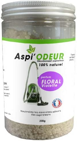 Aspirador de olor floral violeta, 200 g, ambientador para ...