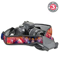 Camera Strap Chest Harness with Comfortable Neoprene and Accessory Pockets by USA GEAR - Works with Canon , Nikon , Fujifilm , Sony , Panasonic and More DSLR , Point & Shoot , Mirrorless Cameras by USA GEAR