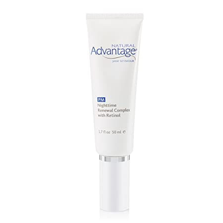 Nighttime Renewal Complex with Retinol, Shea Butter, and Vitamin E For Enlarged Pores and Uneven Skin Tone 90 Day Supply 1.7 Ounces Natural Advantage by Jane Seymour
