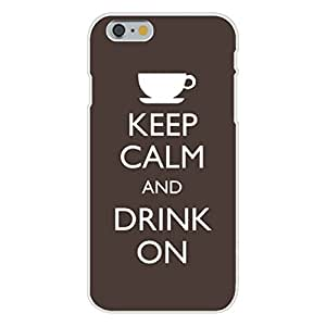 Apple iPhone 6+ (Plus) Custom Case White Plastic Snap On - Keep Calm and Drink On Coffee