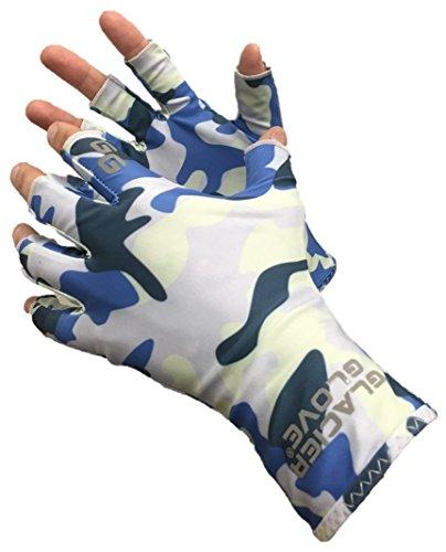 Glacier Glove Abaco Bay Sun Glove, Large/X-Large, Blue Camo