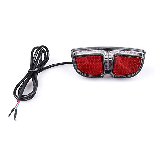 Junstar Ebike 6V LED Tail Light for Bafang Mid Drive Crank Motor Kit 250W 350W 500W 1000W Electric Bike Rear Rack Brake Lamp