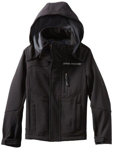 Urban Republic Little Boys' Little Boy Soft Shell Jacket, Black, 5/6