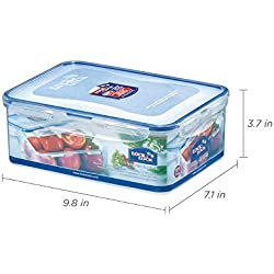 (Pack of 3) LOCK & LOCK Airtight Rectangular Food Storage Container 87.92-oz/10.99-cup