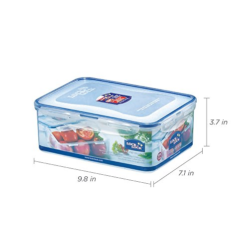 (Pack of 3) LOCK & LOCK Airtight Rectangular Food Storage Container 87.92-oz / 10.99-cup