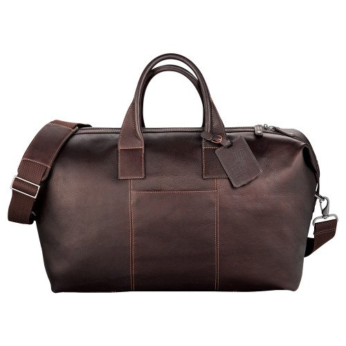 SHSU Kenneth Cole Columbian Leather Mahogany Weekender Duffel 'SH Paw Official Logo Debossed' by CollegeFanGear