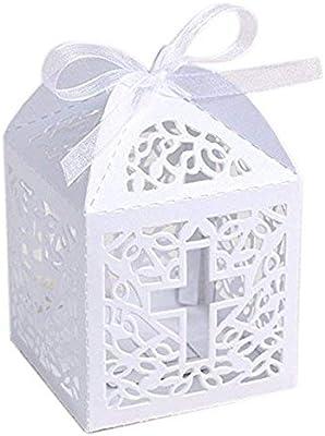 Amazon.com: Juego de 50 cajas de regalo con corte lá ...