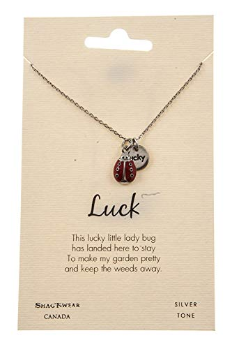 Shag Wear Animal Inspirations Quote Pendant Necklace (Lady Bug Pendant) -