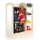 See Store Dress-up Center Natural, three storage units on one side for toys, shoes and dramatic play items