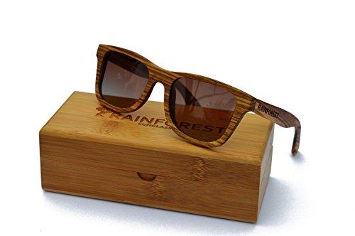 Rainforest Polarized Fire Bamboo Sunglasses, Canopy - Rain Sunglasses