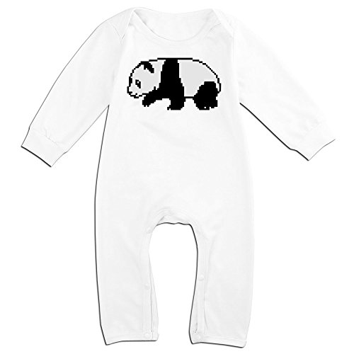[Yours Pixel Panda For 6-24 Months Baby Fashion Baby Climbing Clothes White Size 12 Months] (Young Elvis Presley Costumes)