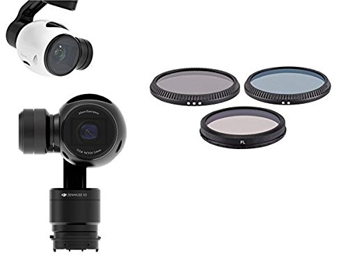 { FILTER SET FOR DJI } DJI Zenmuse X3 Camera Lens with OSMO Osmo+ or Inspire 1 version Quadcopter. Filter Kit Includes: Polarizer + Neutral Density ND8 & ND4 Filters (Natural Density Filter Kit compare prices)