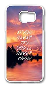 Brian114 Case, S6 Case, Samsung Galaxy S6 Case Cover, If You Never Try Retro Protective Hard PC Back Case for S6 ( white )
