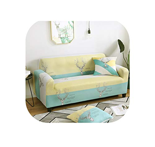 - 1PC Elastic Sofa Cover Slipcovers Stretch All-Inclusive Couch Case for Different Shape Sofa Loveseat Chair L-Style Sofa Case,Color 3,3-Seater 190-230cm